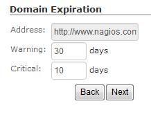 Nagios XI - Domain Expiration Wizard