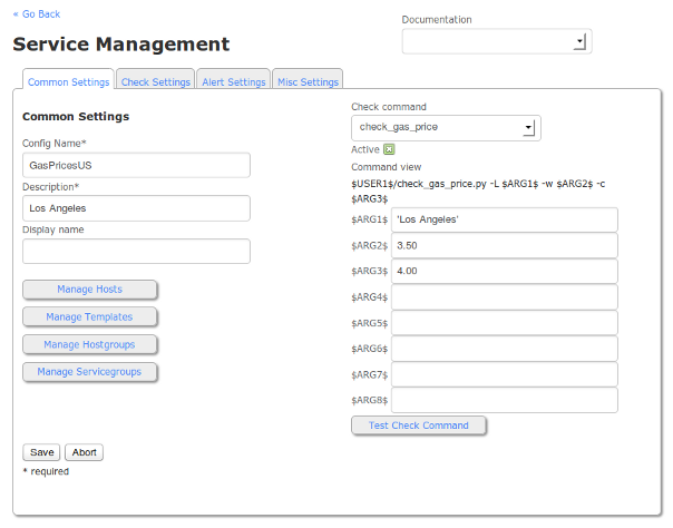 Service Management in Nagios XI