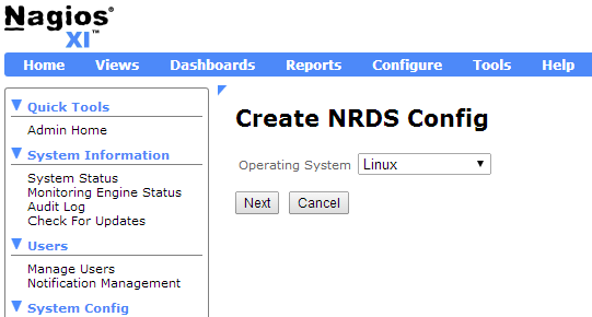 Create NRDS Config