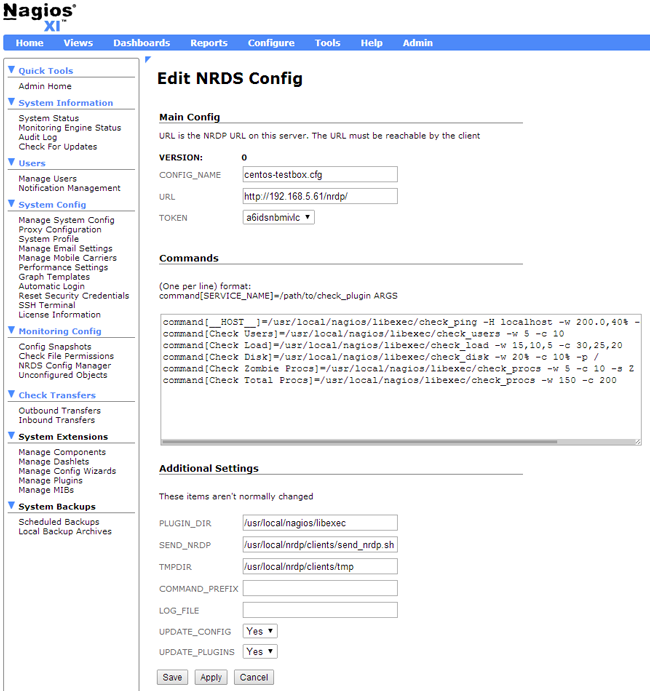 Edit NRDS Config Nagios XI