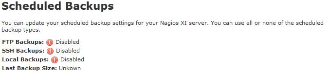 Nagios XI 2014 Scheduled Backup Component